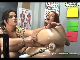 Angelina Castro MECHANICAL dick in Class!