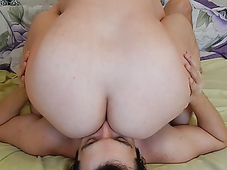 Amateur pussy and ass licking for hairy mature