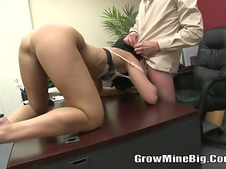 Tiffany Tyler - Young Brunette Sucked A Big C