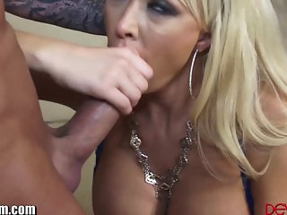 DevilsFilm MILF Sloppy BJ and Titty Fuck