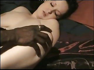 White wife sucking two dicks ( black n white )