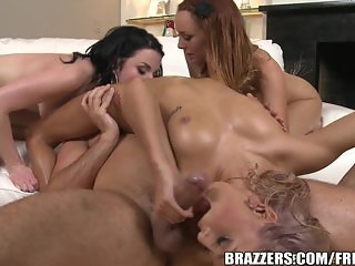 Brazzers - Hot foot fetish foursome