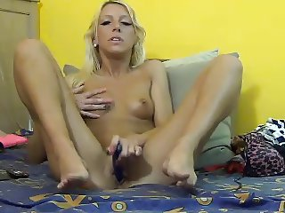 Blonde with dildos