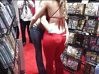 Ass and tits on display at porn covention