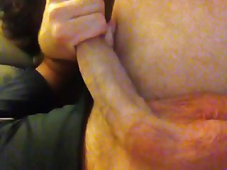 Huge cock and balls not quite hard