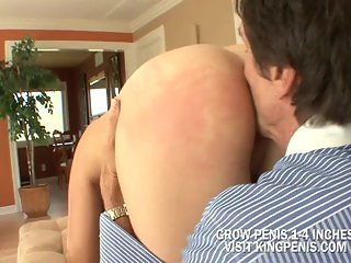 Hot Brunette Gracie Glam Giving A Jerk To Old