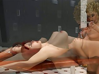 Pictures 3D : Beautiful Shemale fuck a Nice Blondie