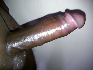 Oiled up cock