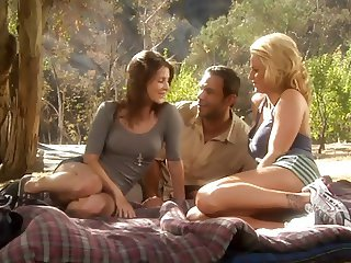 Jenni Lee and Brooke Belle Threesome Picnic