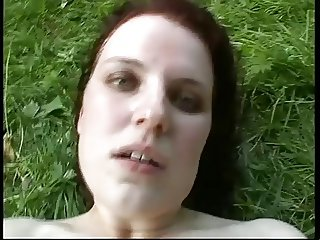 Big Tits Woman - Deep Anal and Cum in the Woods