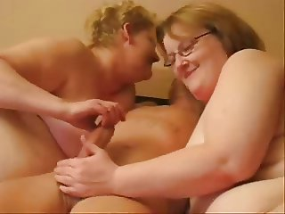 Having fun with mature wife and her cousin. Home made video