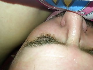 wife sitting on my face with her cotton panties on