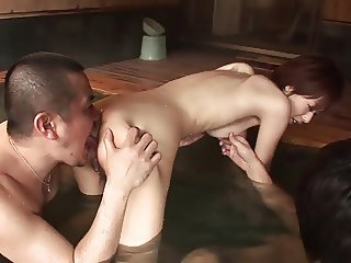 Steamy foursome action with two gorgeous babes sucking and fucking