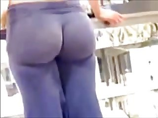 Blonde Hot Spandex Ass
