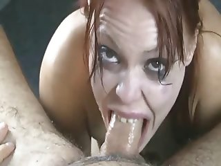 Deepthroat and cum shot