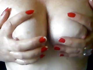Wife's Oiled Up Breasts