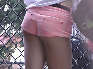 Cute Teen in Hotpants