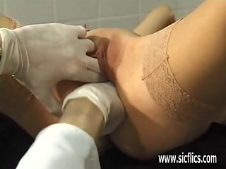 Slave girl fist fucked by her master