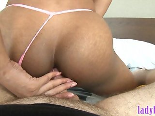 Teen ladyboy gives and receives anal sex