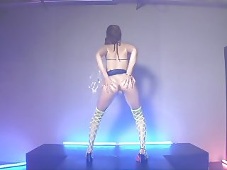 asian stripper dancing tease