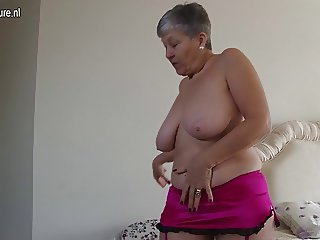 Old but still hot granny with hot body