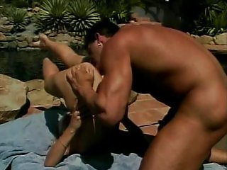 Blonde fucked outside