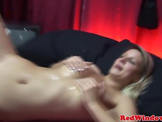 Real redlight hooker gets her tits jizzed