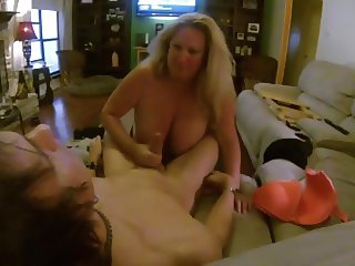 Huge Titted Slut Sucks Me While Hubby Films!!!!