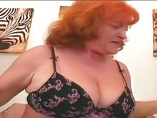 Redhead Granny Slut Eva Sucking And Fucking