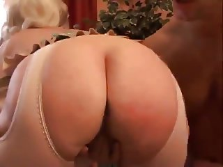 Granny Blonde German Wraps Her Lips Around Dick