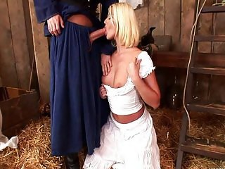 Anal with a blonde Simony Diamond in the hay