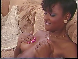 Ebony beauty gets eaten then has athletic sex with black stud