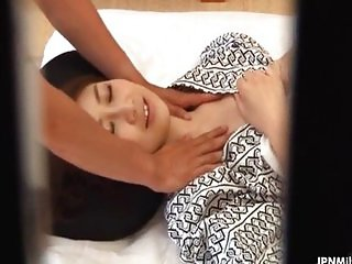 Horny milf from Japan gets a sensual oil