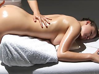 Hot massage cession with beautiful lesbians big tits