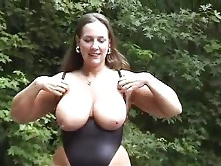 bbw in bodysuit teases. Great tits!