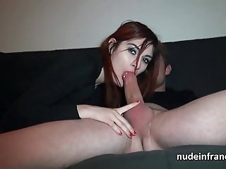 Amateur french redhead slut hard banged and facialized