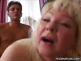 Chunky Mature In Fishnets Fucked