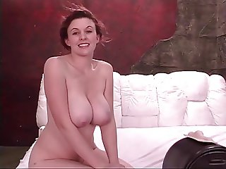 Naughty little whore with nice natural tits takes a shower