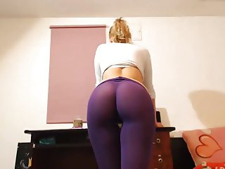 morbid blonde with leggings tucked in the ass
