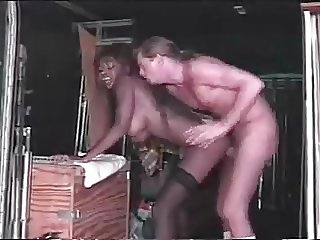 Nubian Goddess  Dominque  fucks a guy in a truck