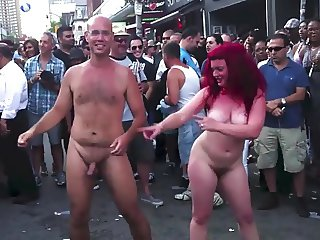 Naked dancing on the street !!!
