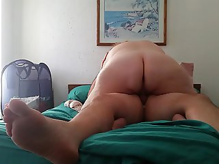 cream pie dripping as she fucks my cowgirl
