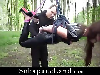 julie skyhigh bdsm with master in latex catsuit& high heels