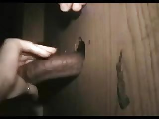 Mature Gloryhole wife gets a big one