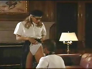 Schoolgirl in glasses licked and fucked in her ass