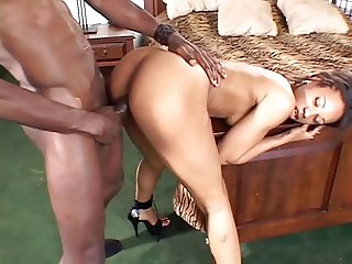 Black couple getting wild after a long time of not seeing each other