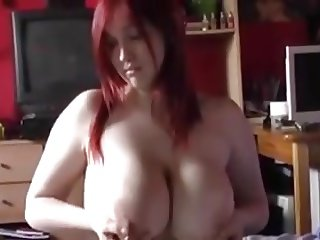 Young BBW strips and plays
