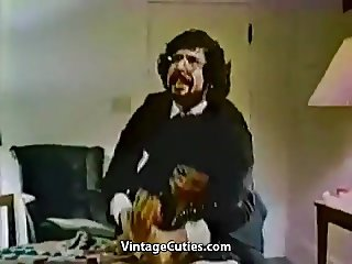 Ebony MILF Masturbates in Front of Man (1970s Vintage)