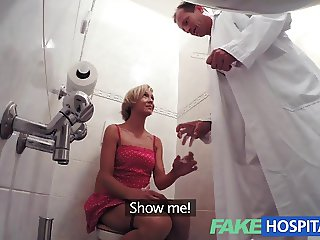 FakeHospital Slim blonde gets creampied after fucking