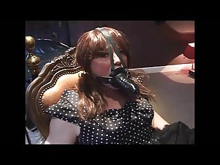 Angelica tied and cock gagged